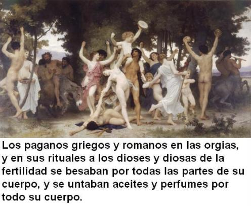 paganos griegos y romanos orgias