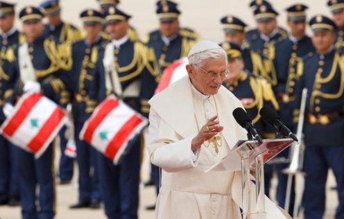 Benedicto durante una visita al Líbano en septiembre de 2012