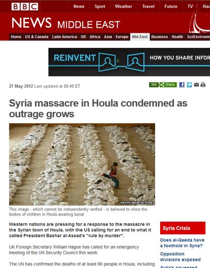 Falsificaciones de los medios de comunicación: La BBC hace pasar una imagen de Irak en Siria