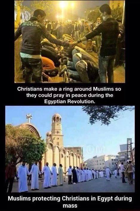 Musulmanes y Cristianos