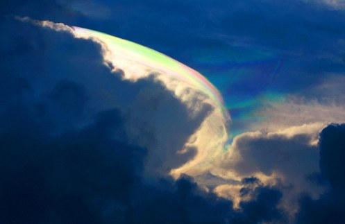 A Rare Colorful Cloud