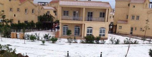 La ciudad de El Cairo ha amnecido nevada AFP