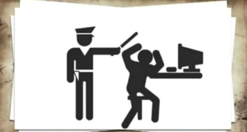 Imagen usada en la campaña contra ACTA. Ahora tras varios intentos sería posible la censura policial y política en internet. | Foto: Nuevo Medio Software Blog