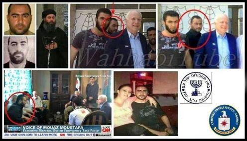 Senados de EEUU John McCain en la foto con el Califa de ISIS Abu Bakr AlBagdadi