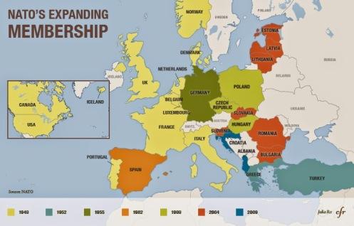 OTAN, expansión - identificando países