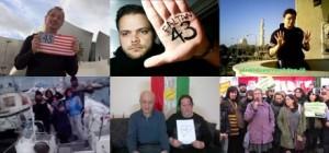 Los protagonistas del mensaje de solidaridad con Ayotzinapa.  Foto: Tomada de YouTube