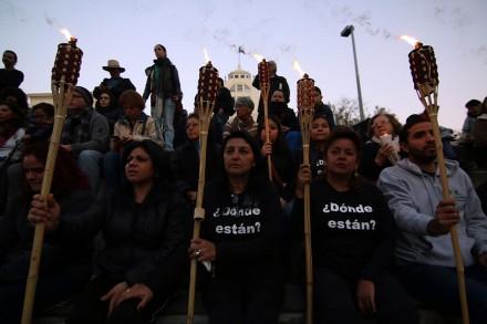 Familiares de desaparecidos en Nuevo León.  Foto: Víctor Hugo Valdivia