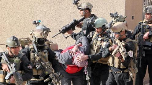 Fuerzas especiales iraquíes durante ejercicios antiterroristas