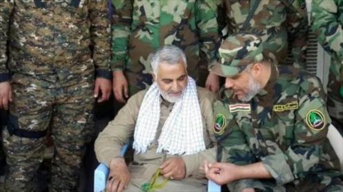 El general de división Qasem Soleimani en Irak
