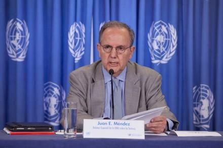 Juan E. Méndez, relator de la ONU.  Foto: Miguel Dimayuga
