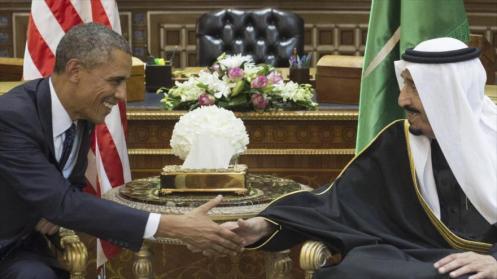 El presidente de Estados Unidos, Barack Obama, y el nuevo rey saudí, Salman bin Abdulaziz Al Saud.