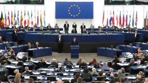 Sesión del Parlamento de la Unión Europea