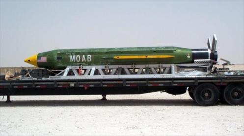 Bomba de fabricación estadounidense MOAB.