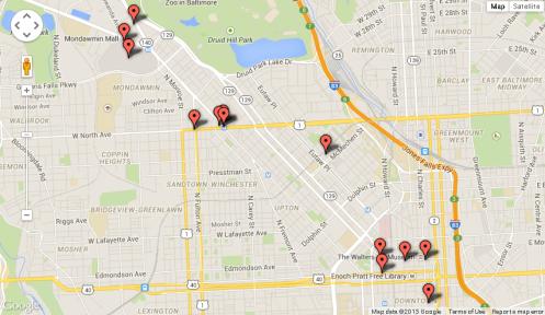 Departamento de la Policía de Baltimore / maps.google.com
