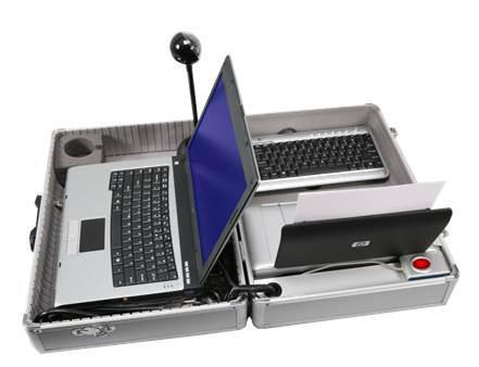 Equipo informático portatil usado en las ferias durante el programa CHIP