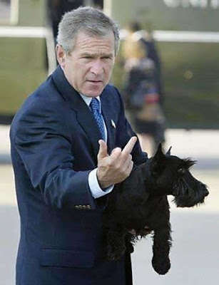 george-bush-finger-flip