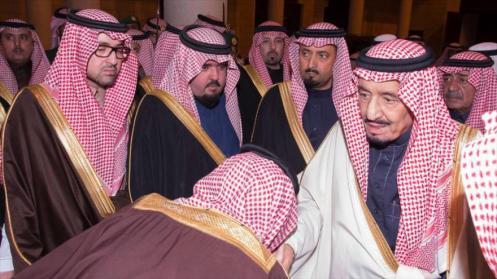 Rey saudí, Salman bin Abdulaziz Al Saud, recibe a dignatarios en Riad, capital de Arabia Saudí