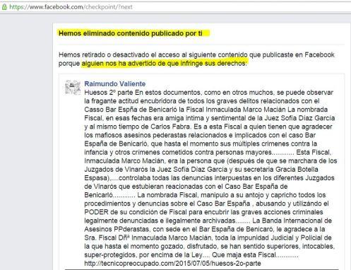 """Cuando un articulo sobre restos humanos """"no cabe"""" dentro de Facebook"""
