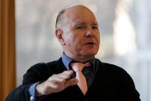 Marc Faber under Skagenfondenes nyttårskonferanse 2009. Foto:Gunnar Lier