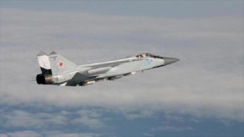 Un avión de combate ruso