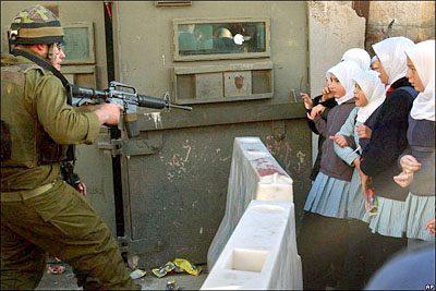 Represión sionista en Palestina.
