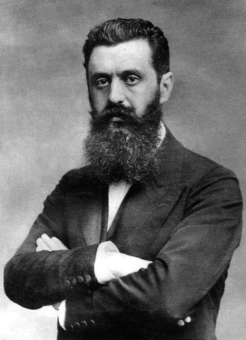 El padre del sionismo Theodor Herlz.