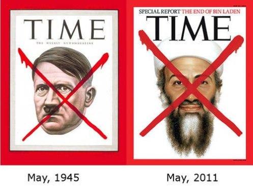"""Hitler y Osama, dos mounstruos fabricados por el poder sionista para lograr objetivos económicos, políticos y sociales. Ambos """"murieron"""" un primero de Mayo...¿coincidencia?...absolutamente NO, esa fecha es de orden satanista, y la llaman la fiesta de Walpurgis, -muy importante para los sionistas, que son maestros del engaño-, en occidente la conocemos como Halloween o """"Noche de brujas""""."""