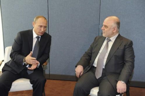 El presidente ruso, Vladímir Putin, y el primer ministro de Irak, Haider Al Abadi. / RIA Novosti/Mijail Kliméntiev