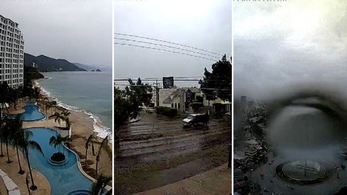 Transmisión en vivo: El huracán Patricia toca tierra en México / YouTube.com / webcamsdemexico / RT