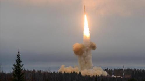 Misil balístico Topl-M lanzado desde el Cosmódromo de Plesetsk.