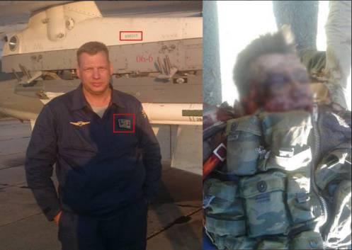 Piloto ruso Tte. Coronel Oleg Pechkov y su compañero se lanzaron en paracaídas vivos, y fueron torturados por lobos grises con pasaporte turco.