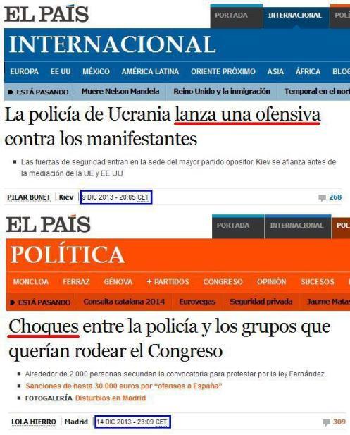 Recorte de El País