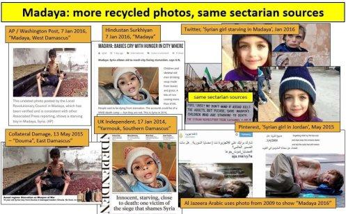 Se publican fotos manipuladas en la guerra propagandística contra el gobierno de Assad