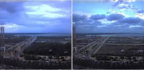 El Malecón de Cancún antes y después de la devastación del Manglar Tajamar