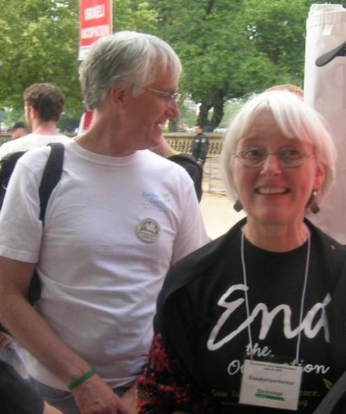 Cindy y Craig Corrie, padres de Rachel