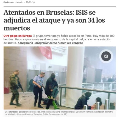 Un ejemplo entre muchos otros en el diario Clarín de Argentina